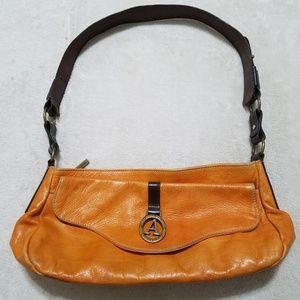Handbags - 2/$40 Avorio Brown Italian Leather Satchel Handbag